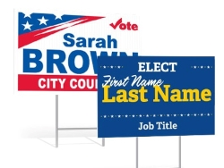 Political yard signs website